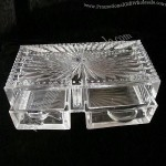 Glass Candy Jar Box With Embossed Patterns
