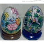 Glass Easter Eggs With Hand Painting
