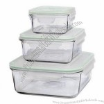 Glass Food Containers in Various Sizes and Shapes