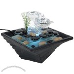 Glass Fountain with White LED