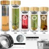 Glass Fruit Infuser Water Bottle BPA Free With Bamboo Lid