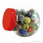 Glass Marbles in Storage Jar
