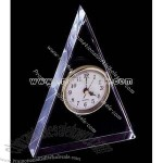 glass triangle shape award clock
