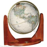 Globe has winged design, traditional elegance & includes coin built into base