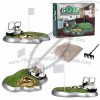 Gold Ashtray Gift, Golf Course Shaped Smoking Set