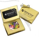 Gold business card box with kosher gourmet candy