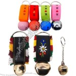 Gold Jingle Bell Keychains, Perfect as Souvenirs