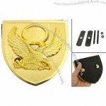 Gold Tone Eagle Pattern Badge Emblem 3D Sticker for Car Vehicle