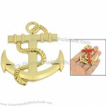 Gold Tone Plastic Anchor Decals Nautical Window Stickers Boat Car