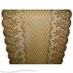Golden and Silver PVC Long Lace Table Runners