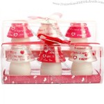 Golden Candle Love Candle Day Gift Tripe Lamp Set