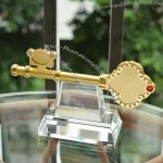 Golden Key Award with Crystal Base