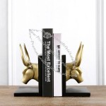 Golden Oxhead Bookend