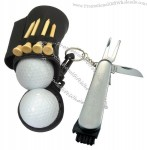Golf Bag Caddy Tool Tee Set Keychain