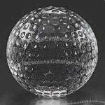 Golf Ball - Exquisite Hand-cut Lead Free Crystal Sport Paperweight
