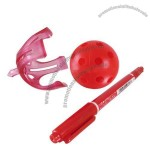 Golf Ball Retriever and Ball Linear Marker with Pen