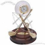 Golf Clocks with Base and Gold Club