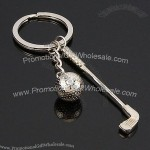Golf Clubs and Golfball Keychain