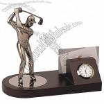 Golf Name Card Holder With Clock