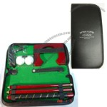 Golf Putter Set In Padded Vinyl Pouch