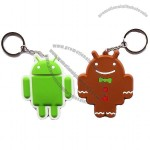 Google Android Robot Character 2X Rubber Keychain