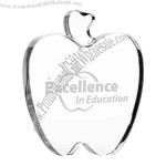 Gorgeous Big Heavy Flat Apple Paperweight