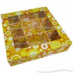 Gourmet cardboard box, transparent window, for chocolate, candy and packaging