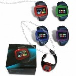 GPS Wristwatch Cellphone with Bluetooth and 1.33-inch Touchscreen Screen, Heart Rate Monitor