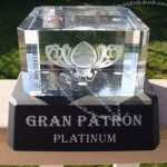Gran Patron Platinum Tequila Lighted Glorifier Bottle Display Stand