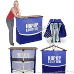 Graphic Counter Display Hop Up Folding Counter with Shelves 39in Wide