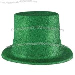 Green glittered top hat.