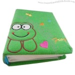 Green Photo Album with Cotton Cloth Cover