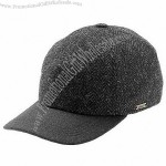 Grey Harris Tweed Baseball Cap - Earlaps