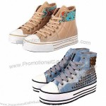 Grils' Canvas Shoes with New Design, Made of Canvas Upper, Rubber Outsole