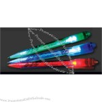 Groove light up pen with black ink and blue LED.
