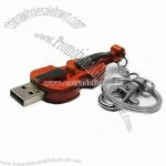 Guitar Shaped Keychain USB Flash Drive