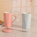 Gypsophila Ceramic Mug for breakfast drink milk