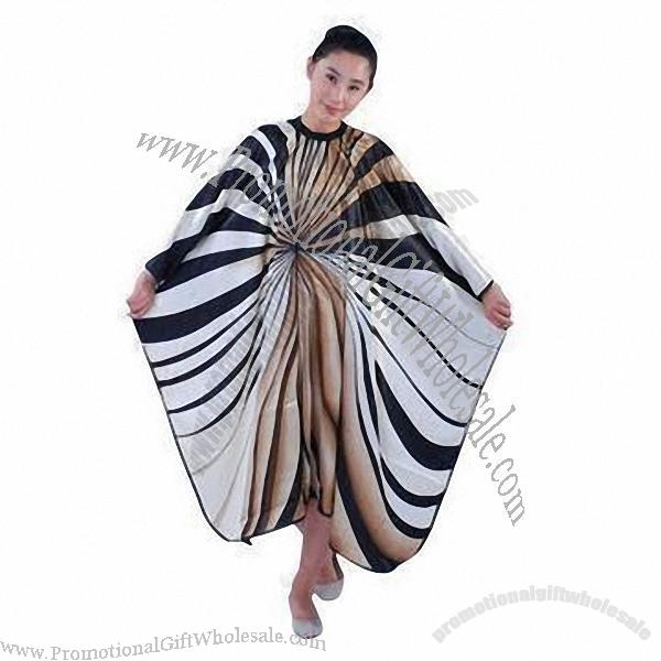 Hair Styling Cape, Made of Silk Polyester China Suppliers