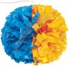 Half & Half Plastic Two Color Pom Poms