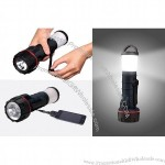 Hand Crank Powered Flashlight/Lantern with Mobile Phone Charger