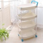 Hand push Plastic Storage Rack