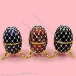 Handicraft Metal Jewelry Box Diamond Easter Egg Souvenir