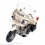 Handmade Metal Police Motorcycle Model