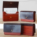 Handmade Wooden Coin Purse Wallet Credit Card Holder Business Card Holder