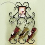 Hang Wall 2-in-1 Wine Rack with Wine Cup