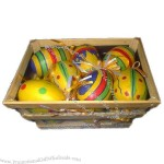 Hanging Decorative Easter Eggs with Wooden Box