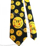 HAPPY FACES WITH KISSES - 100% POLYESTER NECK TIE