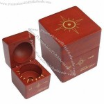 Hardwood Perfume Packaging Gift Box in Warm Mahogany Finish