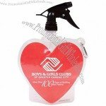 Heart 24oz Collapsible Spray Top Water Bottle