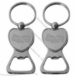 Heart Design Zinc Alloy Bottle Opener Keychain